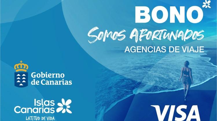 Tarjeta Bono Somos Afortunados de agencias de viaje - Islas Canarias