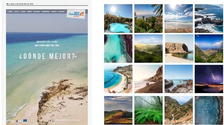 Imagen de la campaña de turismo interno «Islas Canarias, ¿dónde mejor?»