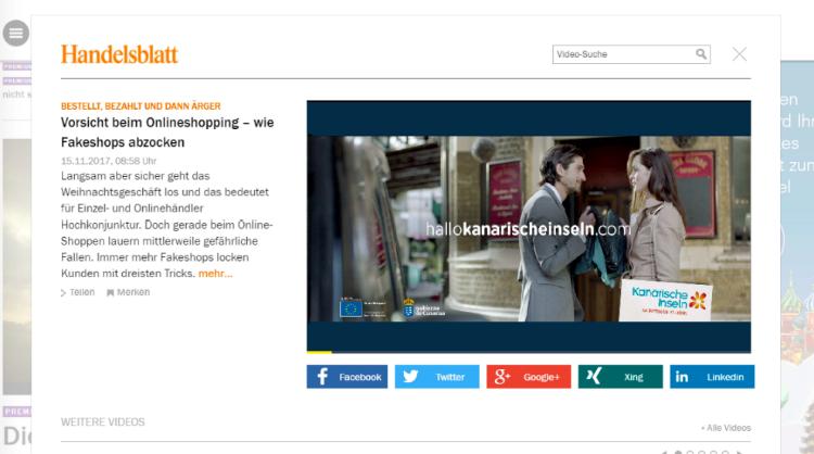 Campaña de Islas Canarias en medios online