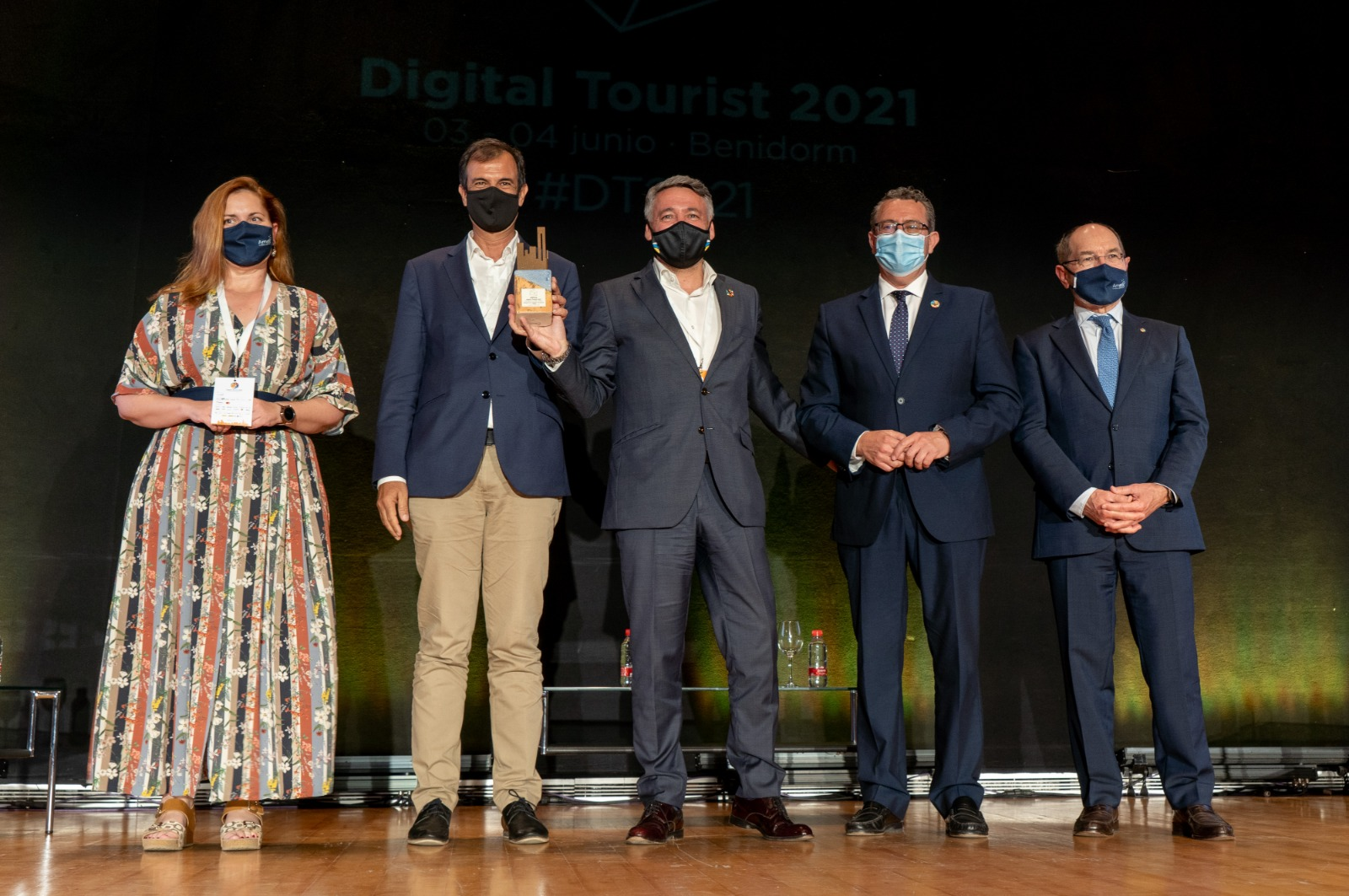 Entrega del galardón a Turismo de Islas Canarias.