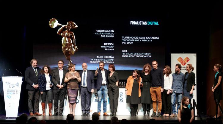 Entrega premio AMPE, plata a Encuéntrame y Piérdete, Islas Canarias