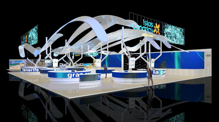 Imagen del pabellón de Islas Canarias en FITUR 2019