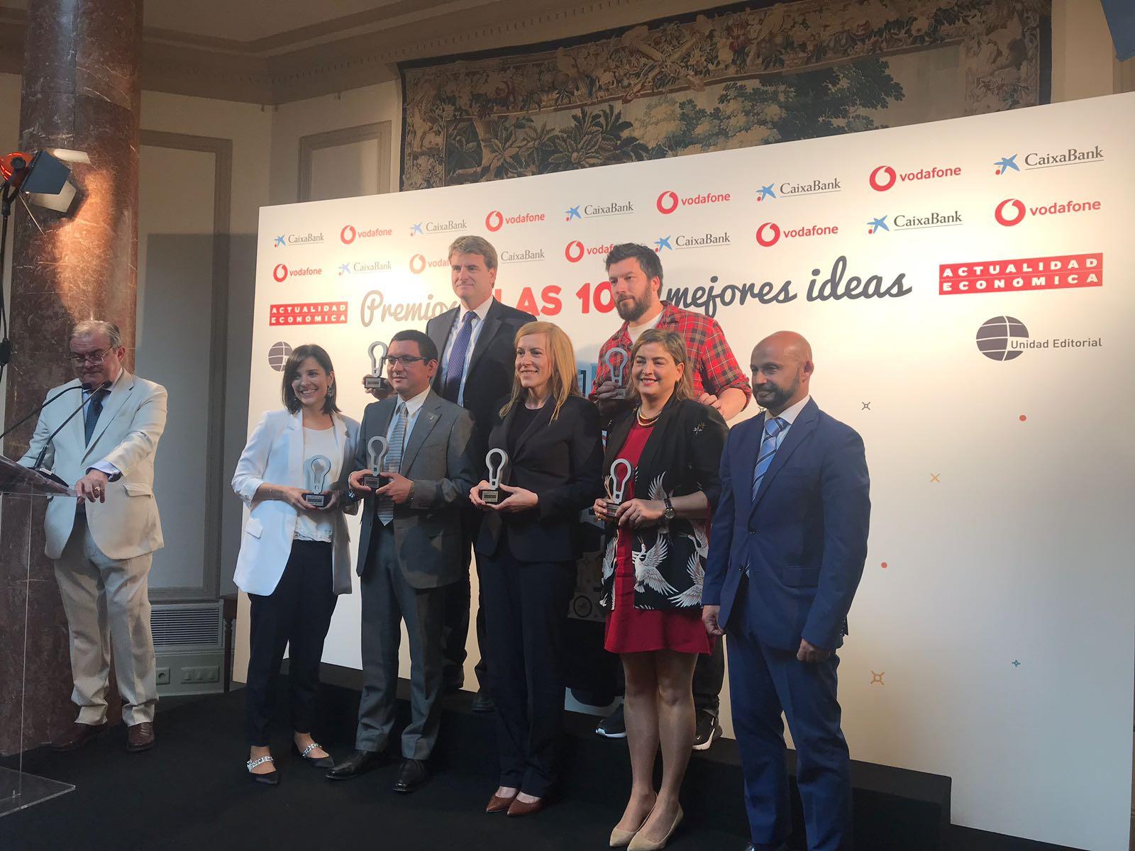 """Galardonados """"100 mejores ideas del año"""" Actualidad Económica, Islas Canarias"""
