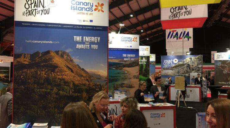 Presencia de Islas Canarias en la feria Holiday World, en Dublín