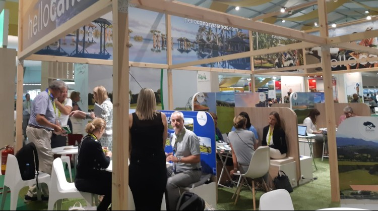 The Canary Islands stand at IGTM, the most important golf fair in the world.
