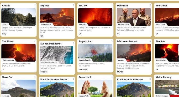 Repercusión en prensa internacional sobre la situación volcanológica en La Palma.