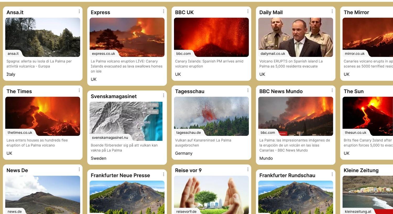 Los mercados emisores de turistas, informados en todo momento de la situación vulcanológica en La Palma.