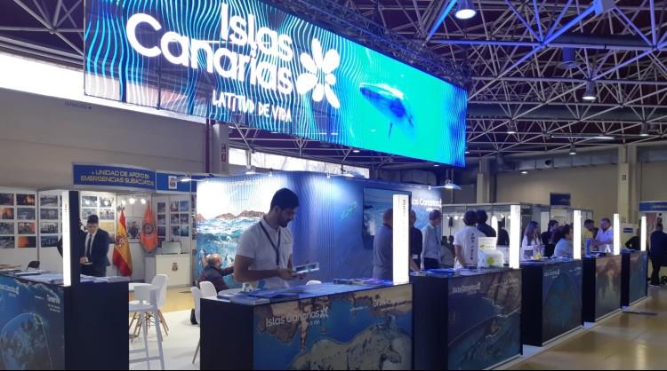 Islas Canarias asiste a la Mediterranean Diving Show de Barcelona 2020, la feria de submarinismo más importante de España