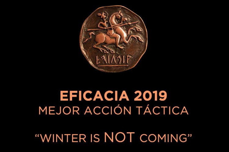 """The promotional campaign """"Winter is not coming"""" wins bronze at the 2019 Eficacia Awards"""