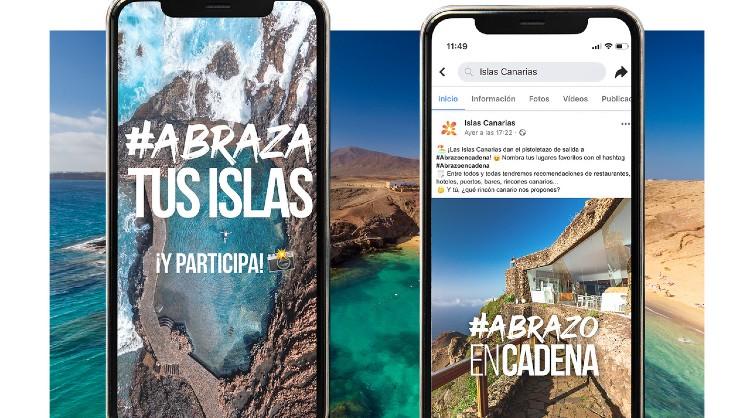 """#AbrazaTusIslas y #AbrazoEnCadena, las dos nuevas acciones de la campaña """"Abraza de nuevo tus Islas"""" de Islas Canarias dirigida al turismo interno"""