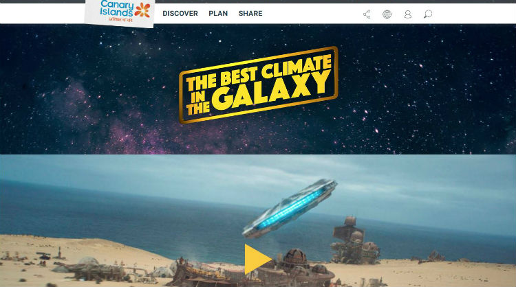 Image of thebestclimateinthegalaxy.com, Canary Islands