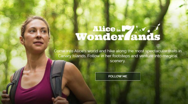 Alice in 7 Wonderlands, the new interactive action promoting walks and nature in the Canary Islands