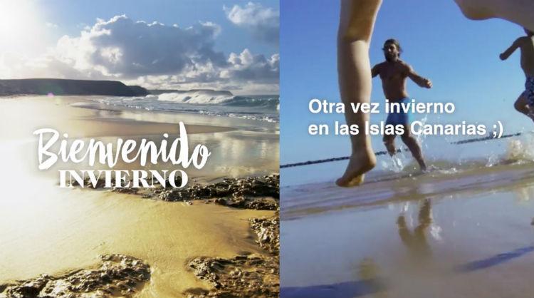 """Una de las imágenes de la acción de dayketing """"Bienvenido invierno"""" de Islas Canarias"""
