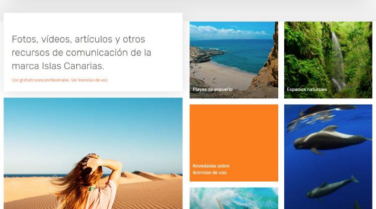 Imagen de la página Inicio del nuevo Brandcentre de las Islas Canarias