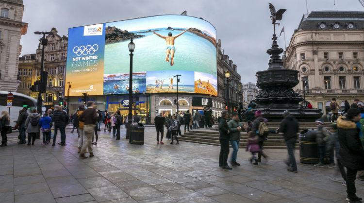 #NotWinter Games, the hottest promotional campaign for the Canary Islands during the Winter Olympic Games