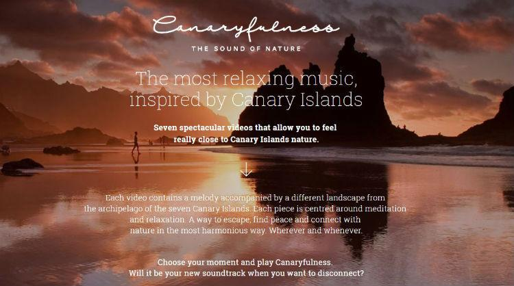 Canaryfulness, the new promotional campaign by the Canary Islands to promote the practice of mindfulness