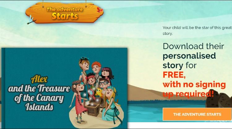 The Canary Islands participate in World Book Day with an original personalised story for children