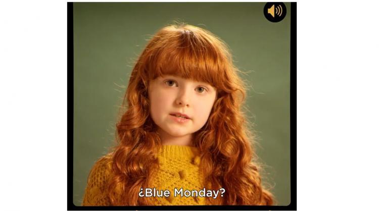 Fotograma del vídeo de la campaña de Islas Canarias para desmentir el Blue Monday