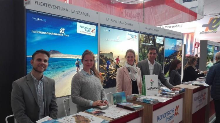Stand de Islas Canarias en la feria de turismo F.R.E.E.