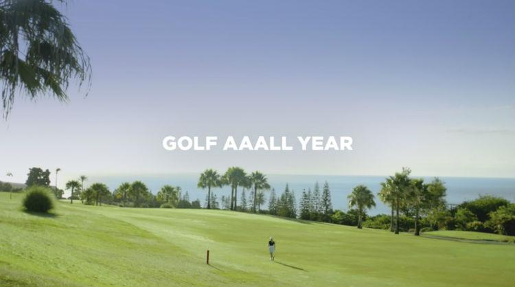 One of the picture of the Canary Islands campaign aimed at golf tourists during the 2018 Ryder Cup Celebration