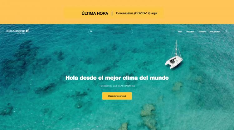 La nueva web holaislascanarias.com emplea la última tecnología en la gestión de datos.
