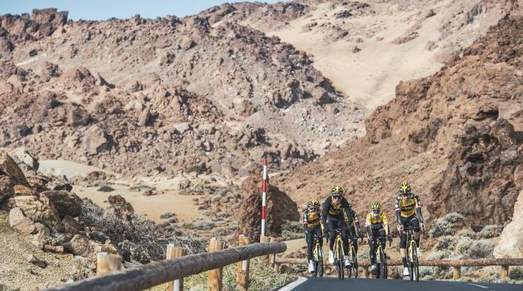 Team Jumbo-Visma, the world's top cycling team in 2020, training in the Canary Islands