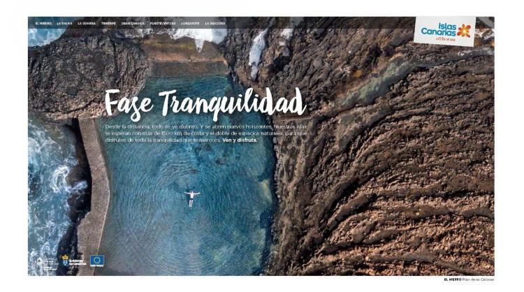 """Una de las imágenes de la campaña de Islas Canarias """"Entra en fase tranquilidad"""", dirigida al turismo peninsular"""