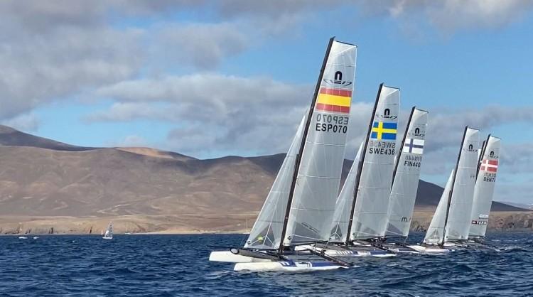 Más de 300 regatistas de 35 países entrenan en Lanzarote para las olimpiadas de Tokio 2021