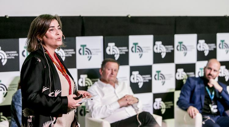 María Méndez, Promotur manager, at the IV Canary Islands Digital Tourism Congress