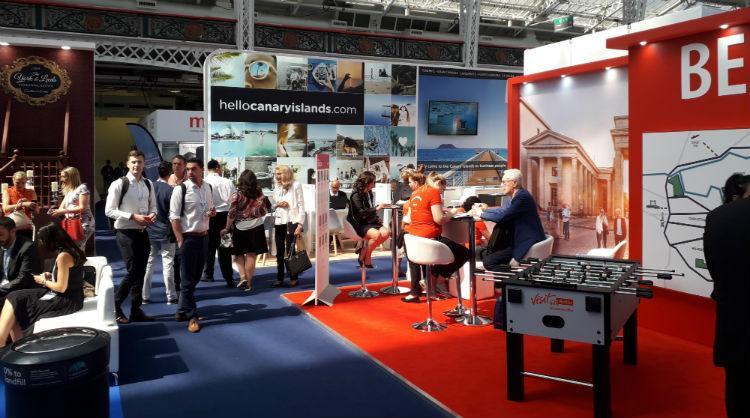 Stand de Islas Canarias en The Meetings Show 2018