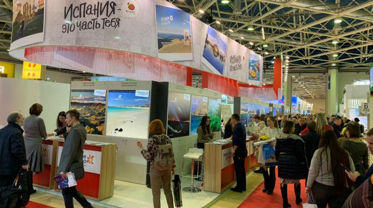 Stand de Islas Canarias en The Moscow International Travel & Tourism (MITT) 2019