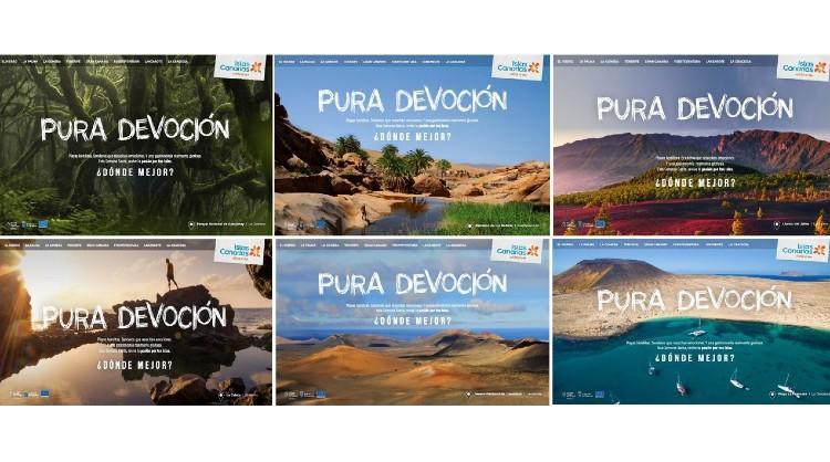 Distintas imágenes de la nueva campaña de Turismo de Islas Canarias dirigida al turismo interno para Semana Santa