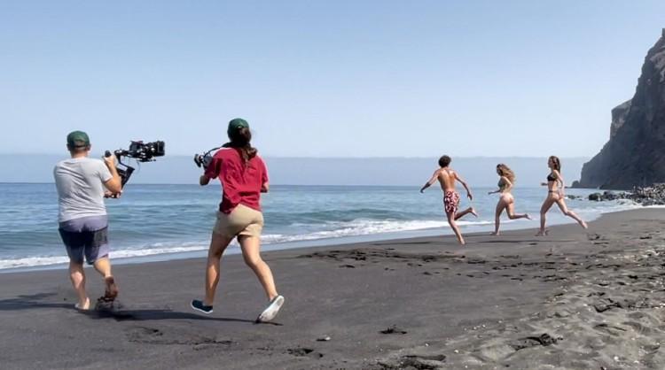 Una de las imágenes del rodaje para las nuevas producciones de Islas Canarias