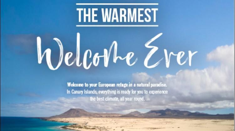 """""""La bienvenida más cálida de todas"""", la nueva campaña internacional de Islas Canarias"""
