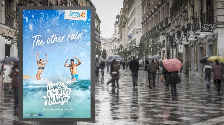 """Una de las imágenes de """"The other Winter"""", la nueva campaña internacional de Islas Canarias para el invierno 2021"""
