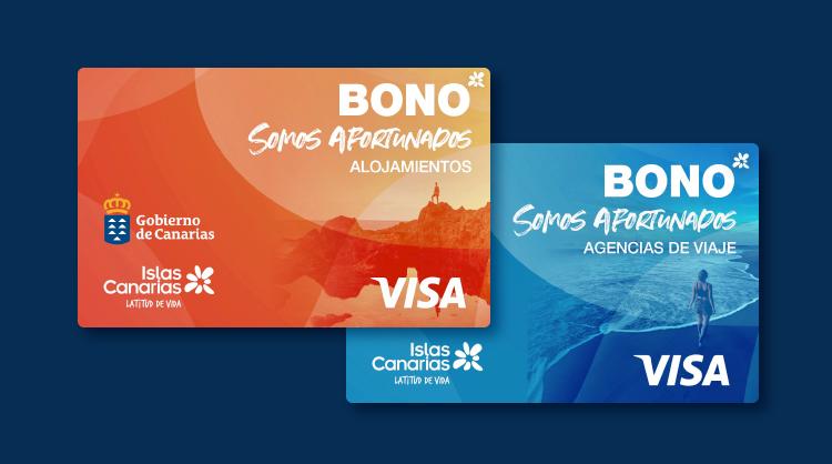 Tarjetas virtuales de los bonos Somos Afortunados