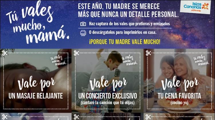 """""""Tú vales mucho, mamá"""" es la acción de dayketing de Islas Canarias para celebrar el Día de la Madre"""