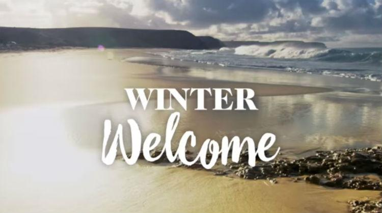 "One of the images of the dayketing ""Welcome to Winter"" campaign by Canary Islands"