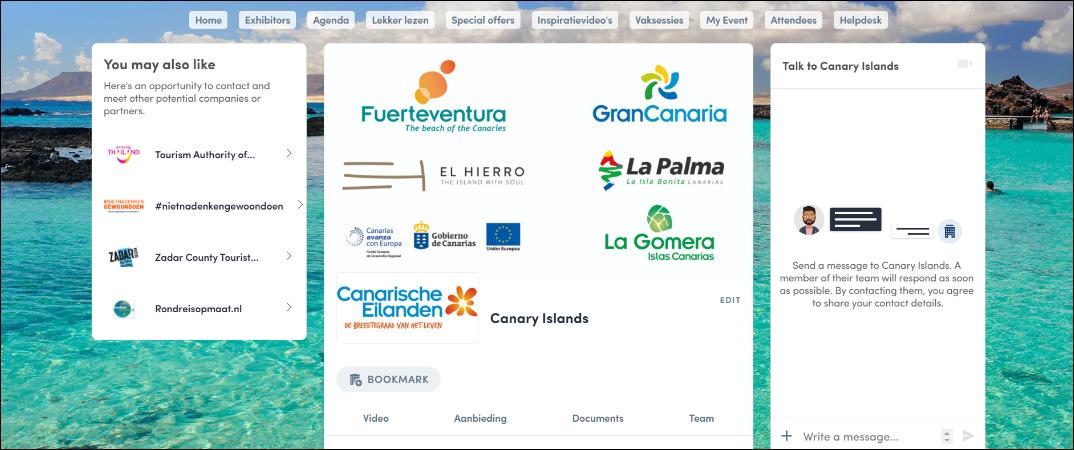 Turismo de Islas Canarias presente en la feria holandesa Vakantiebeurs.
